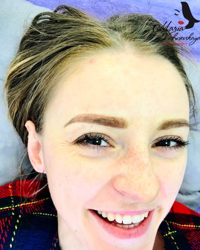 Перманентный макияж пудовые брови